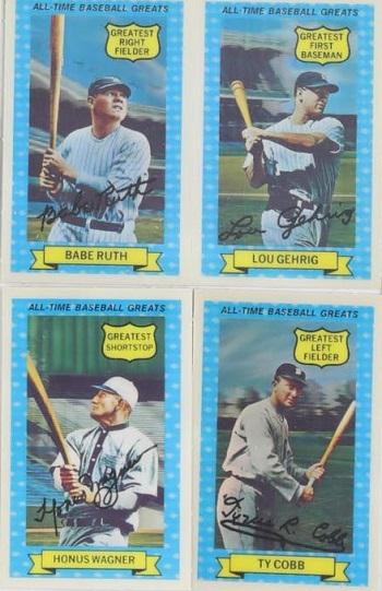 1972 All-Time Baseball Greats Set
