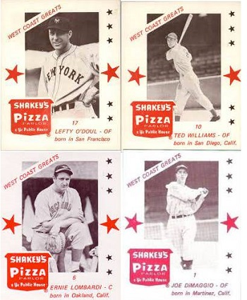 1975 Shakeys Pizza West Coast Greats Set