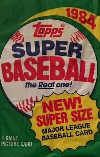 1984 Topps Super Baseball Cards