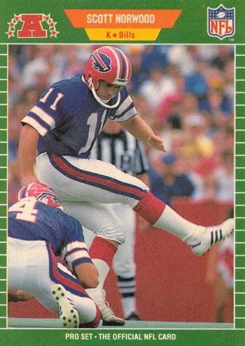 1989 Pro Set Scott Norwood Rookie Card