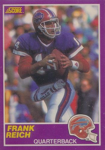 1989 Score Supplemental Frank Reich Rookie Card
