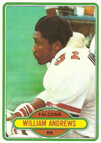 1980 Topps William Andrews Rookie Card