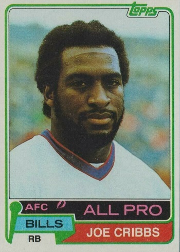 1981 Topps Joe Cribbs Rookie Card