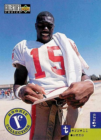 1996 Collectors Choice Update Rookie Collection Terrell Owens Rookie Cards