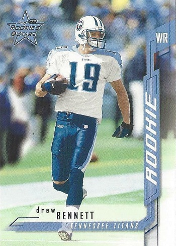 2001 Leaf Rookies & Stars Drew Bennett Rookie Card