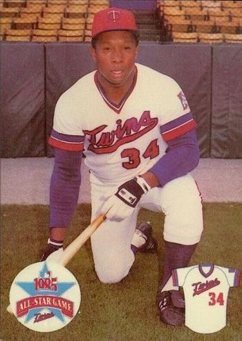 1985 Minnesota Twins Team Issue Kirby Puckett