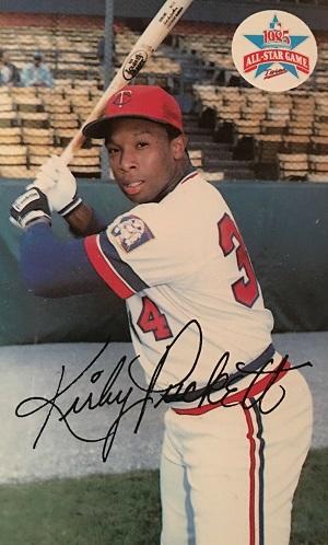 1985 Minnesota Twins Postcards Kirby  Puckett