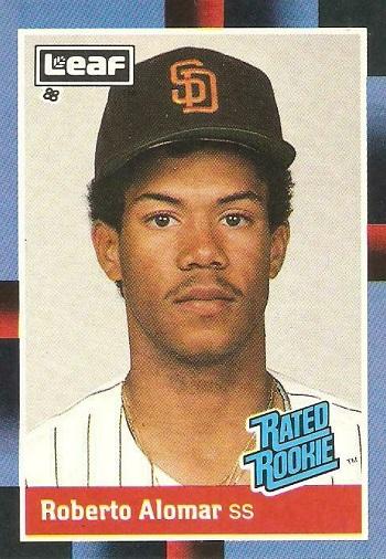 1988 Leaf Rated Rookie Roberto Alomar