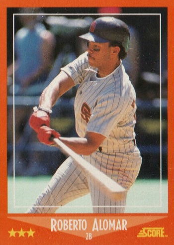 1988 Score Rookie and Traded Roberto Alomar