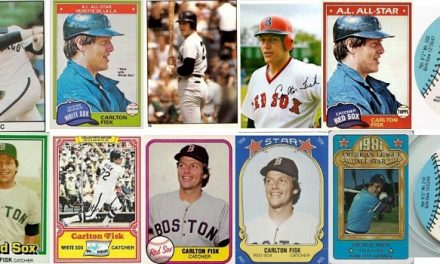 1981 Carlton Fisk Baseball Cards — Changing His Sox