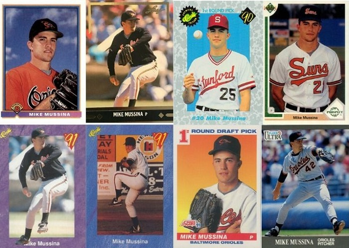 The Many Uniforms of Mike Mussina Rookie Cards