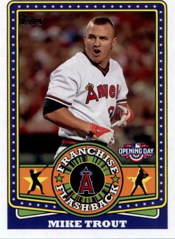 2015 Topps Opening Day Franchise Flashbacks Mike Trout