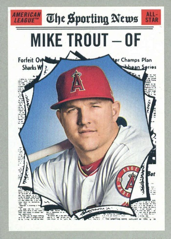2019 Topps Heritage Mike Trout
