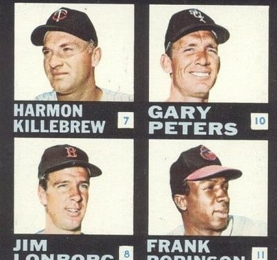 Harmon Killebrew Powered 1968 Topps Plaks Checklist