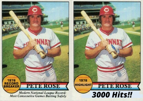 This Pete Rose Milestone Fell into the Cardboard Breach