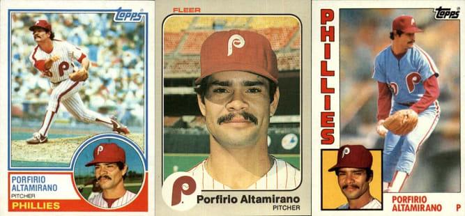 Old Age and Porfirio Altamirano Baseball Cards