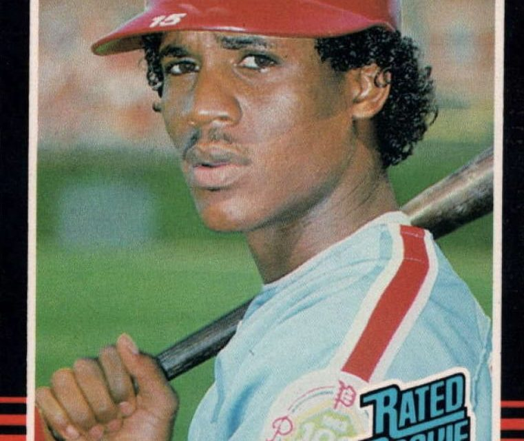 1985 Donruss Steve Jeltz Rated Rookie Not So Far Off Base