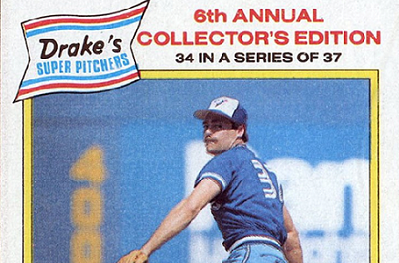1986 Drake's Dave Stieb Looks Like His Career