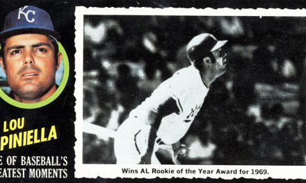 1971 Topps Greatest Moments Lou Piniella Earned Its Status