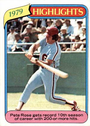 1980 Topps Pete Rose Record Breaker