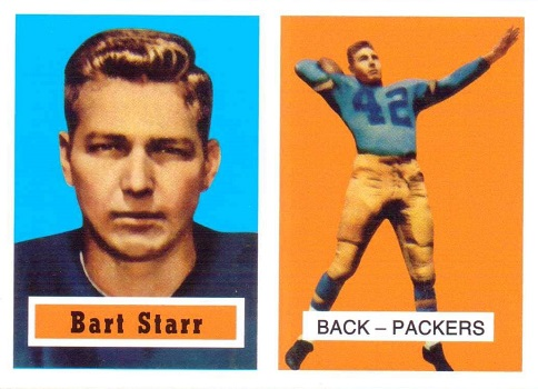 1957 Topps Bart Starr Rookie Card
