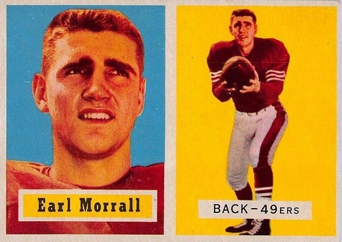1957 Topps Earl Morrall Rookie Card