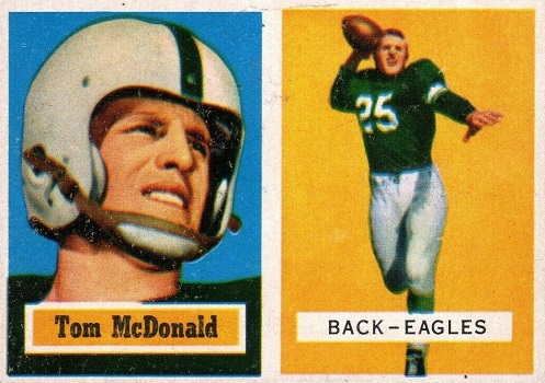 1957 Topps Tom McDonald Rookie Card
