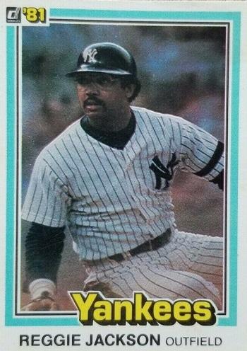 1981 Donruss Reggie  Jackson