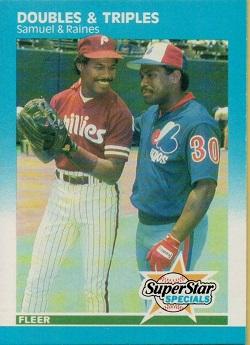 1987 Fleer Juan Samuel and Tim Raines -- Doubles & Triples (#642)