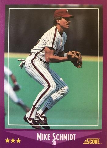 1988 Score Mike Schmidt (#16)