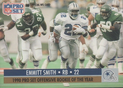 1990 Pro Set Emmitt Smith Offensive Rookie of the Year