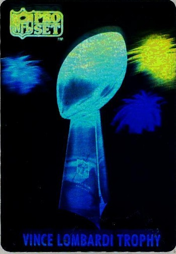 1990 Pro Set Vince Lombardi Trophy-Hologram