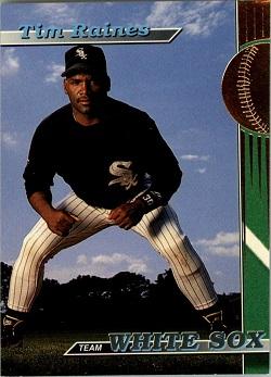 1993 Stadium Club White Sox Tim Raines (#5)