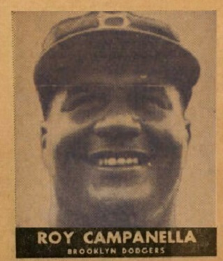 1954 New York Journal-American Roy Campanella a Lottery Strike for Collectors