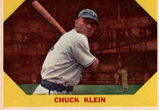 1960 Fleer Chuck Klein a Sideways Look at History