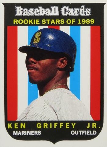 Ken Griffey Jr Rookie Cards 1989 Baseball Cards Magazine Repli-Cards Ken Griffey Jr. Hand Cut