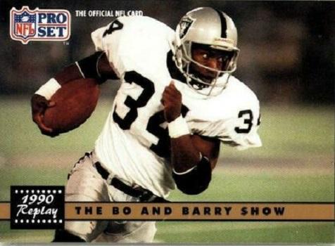 1991 Pro Set Barry Sanders/Bo Jackson (Nflpa Logo on Back)