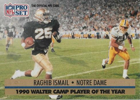 1991 Pro Set Raghib Ismail