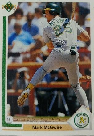1991 Upper Deck Mark  McGwire