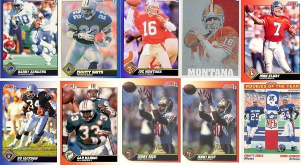 10 Most Popular 1991 Score Football Cards