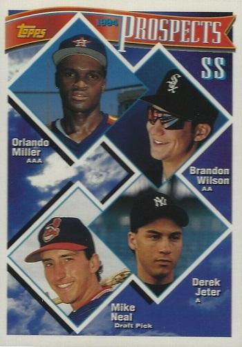 1994 Topps SS Prospects Miller-Wilson-Jeter-Neal