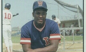 1988 Ballpark Cape Cod Prospects Maurice Vaughn Wareham Gatemen More than a Mouthful