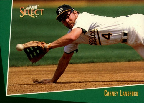 1993 Score Select Carney Lansford Made It All the Way Back