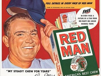 1954 Johnny Mize Red Man Ad Tipped His Cap to Final Act