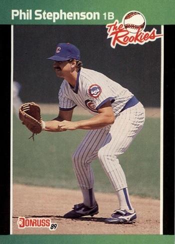 1989 Donruss The Rookies Phil  Stephenson