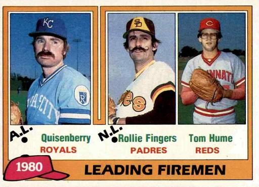 Dan Quisenberry Blazed a New Trail on 1981 Topps Leading Firemen