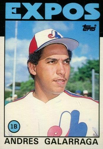 1986 Topps Traded Andres  Galarraga