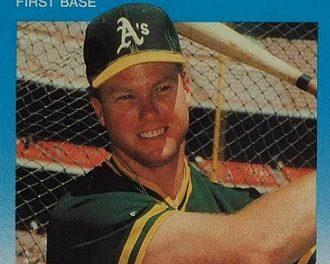 1987 Fleer Update Mark McGwire Struck Out in Style