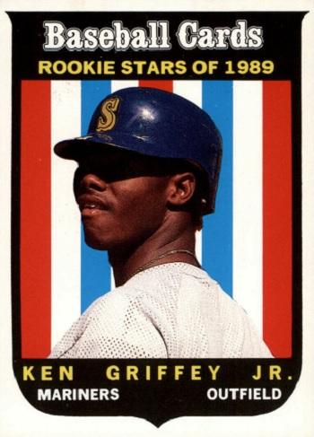 1989 Baseball Cards Magazine Repli-Cards Ken Griffey Jr Rookie Card