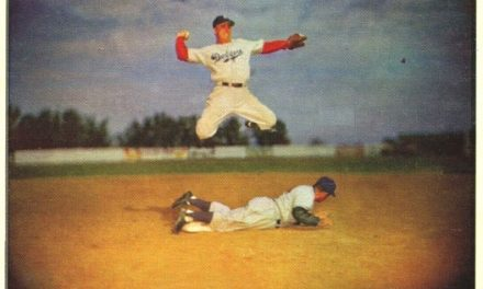 1953 Bowman Pee Wee Reese Held the Moment